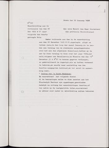 Breda - Verslagen van de toestand van de gemeente 1835-01-01