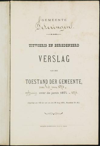 Teteringen - Verslagen van de toestand van de gemeente 1876
