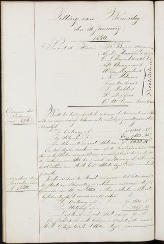 Ginneken en Bavel - Notulen van de gemeenteraad 1850-01-01