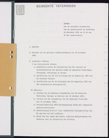 Teteringen - Notulen en bijlagen van de gemeenteraad 1982-12-16