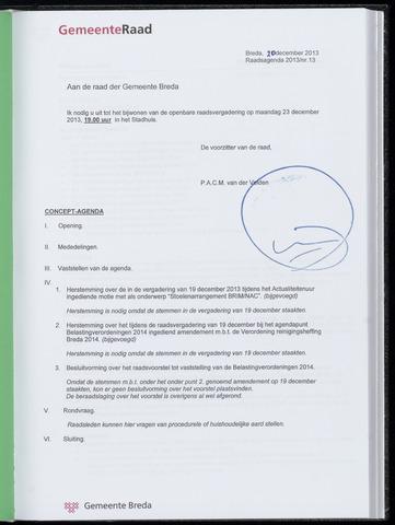 Breda - Bijlagen bij de notulen van de gemeenteraad 2013-12-23