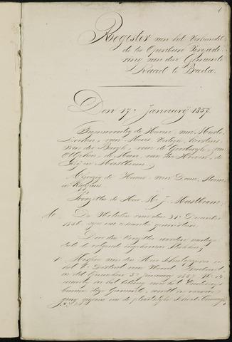 Breda - Notulen van de gemeenteraad 1857