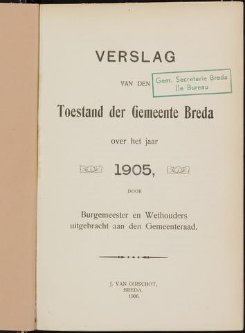Breda - Verslagen van de toestand van de gemeente 1905
