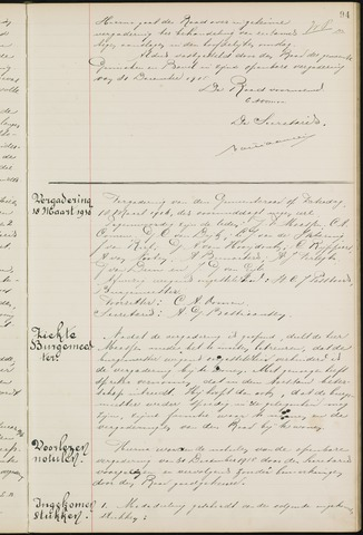 Ginneken en Bavel - Notulen van de gemeenteraad 1916-01-01