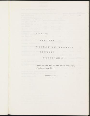 Ginneken en Bavel - Verslagen van de toestand van de gemeente 1911-01-01