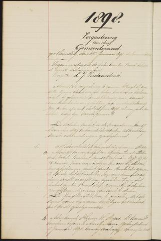 Teteringen - Notulen en bijlagen van de gemeenteraad 1898