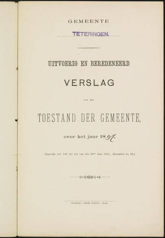 Teteringen - Verslagen van de toestand van de gemeente 1897