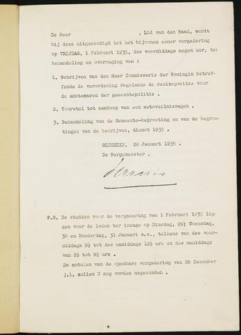 Ginneken en Bavel - Bijlagen bij de notulen van de gemeenteraad 1935-01-01