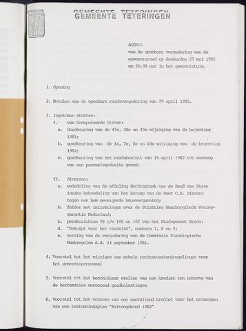 Teteringen - Notulen en bijlagen van de gemeenteraad 1982-05-27