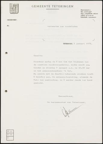 Teteringen - Notulen en bijlagen van de gemeenteraad 1975