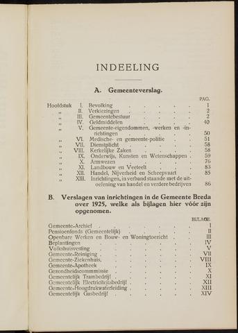 Breda - Verslagen van de toestand van de gemeente 1925