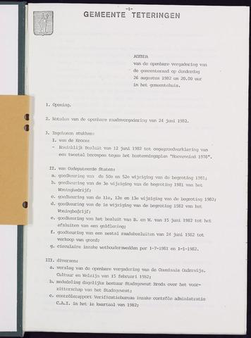 Teteringen - Notulen en bijlagen van de gemeenteraad 1982-08-26