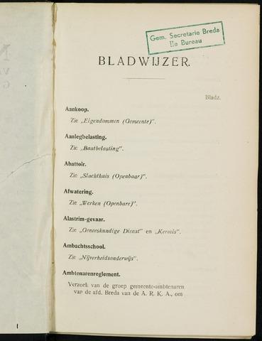 Breda - Indexen op de notulen van de gemeenteraad 1929-01-01