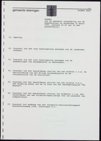 Teteringen - Notulen en bijlagen van de gemeenteraad 1995-03-30