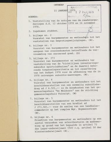 Breda - Notulen van de gemeenteraad 1979-01-01