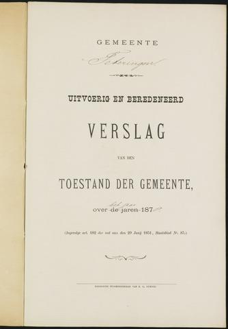Teteringen - Verslagen van de toestand van de gemeente 1878