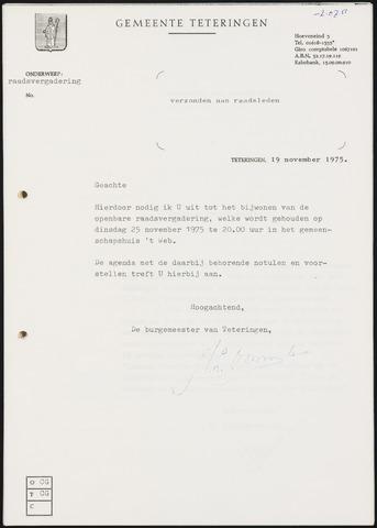 Teteringen - Notulen en bijlagen van de gemeenteraad 1975-11-25