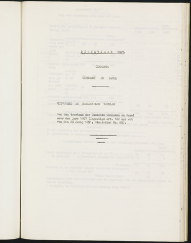 Ginneken en Bavel - Verslagen van de toestand van de gemeente 1867