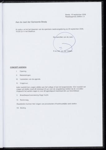 Breda - Bijlagen bij de notulen van de gemeenteraad 2008-09-29