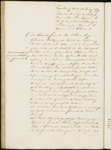 Princenhage - Notulen van de gemeenteraad 1829-01-01