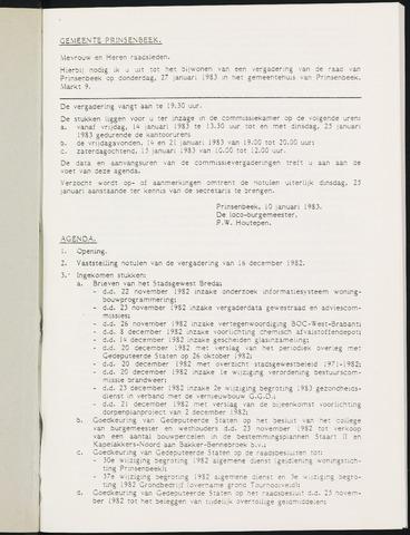 Prinsenbeek - Notulen van de gemeenteraad 1983