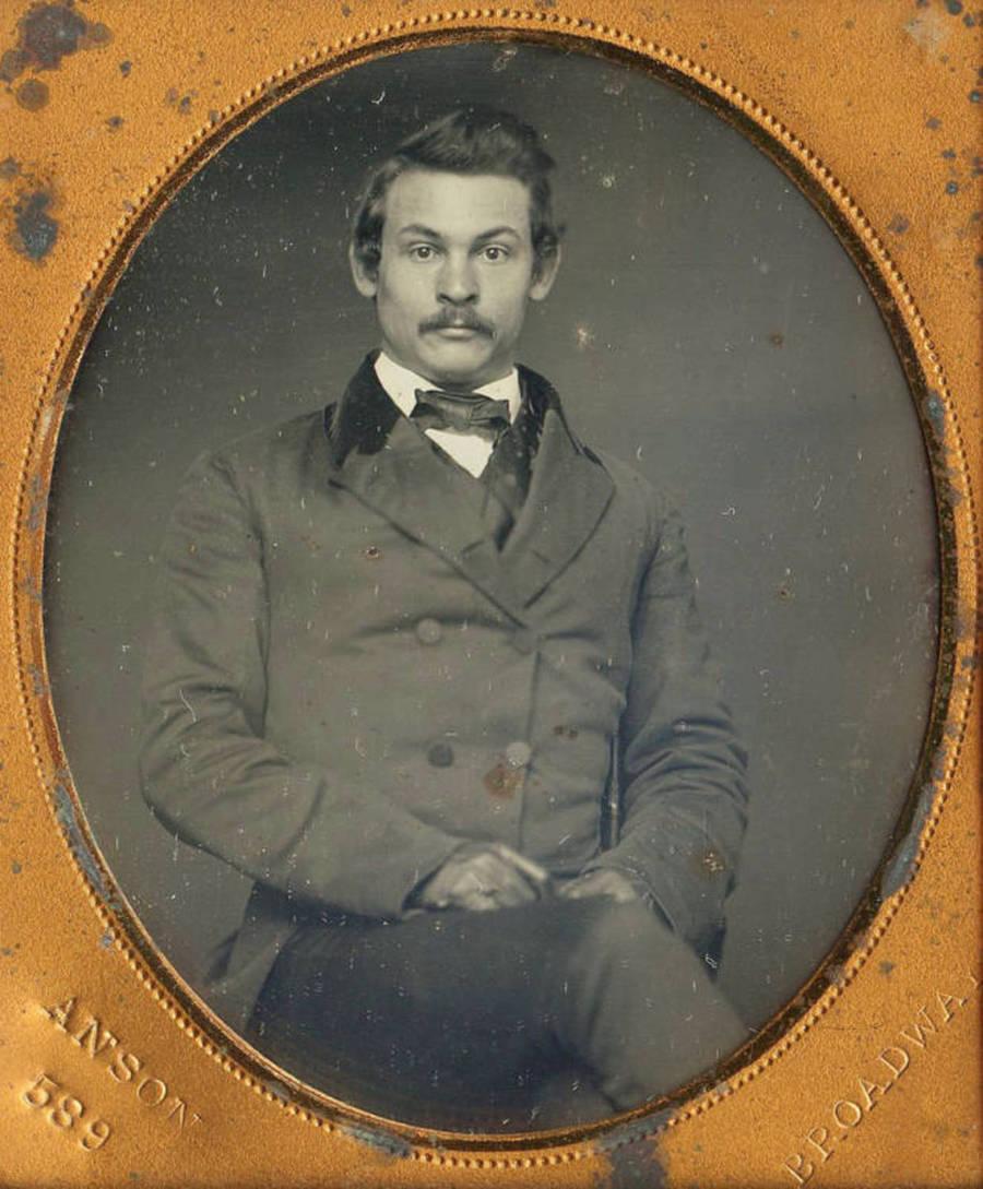 Portrait of a man with a moustache