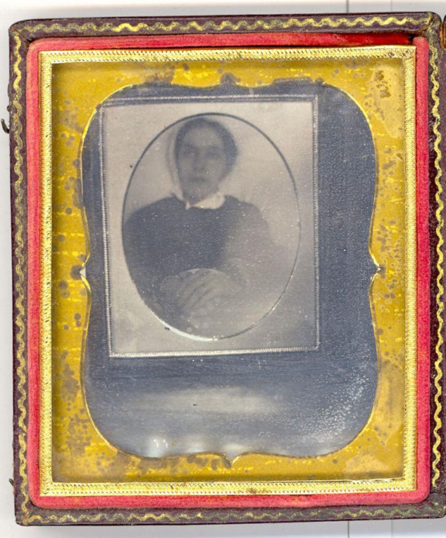 Still life of a Post Mortem Daguerreotype