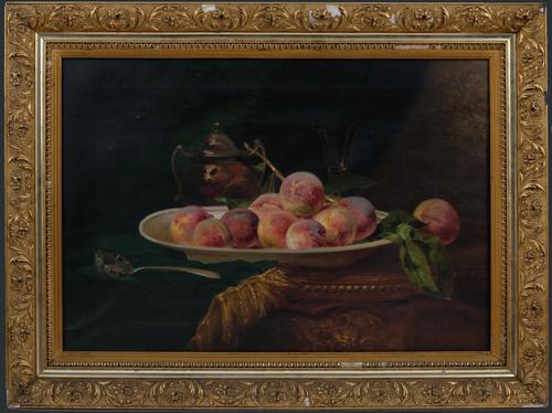 Schaal met perziken