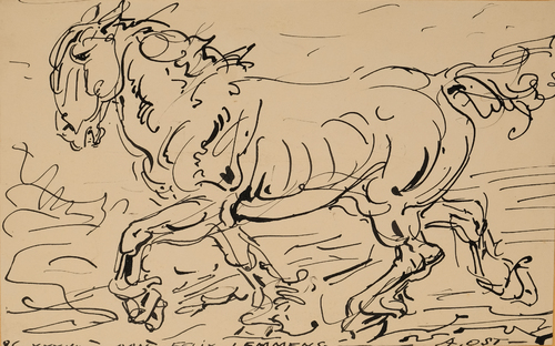 Paard in draf