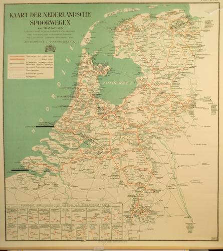 Kaart der Nederlansche Spoorwegen en Tramwegen