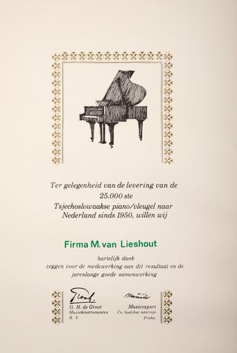 Oorkonde van M. van Lieshout
