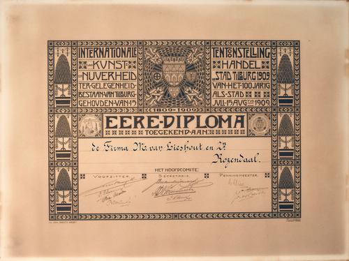 Ere-diploma M. van Lieshout en Zonen