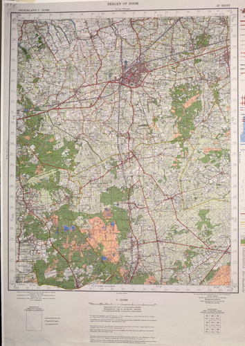 Hydrografische kaart Gemeente Bergen op Zoom en omstreken