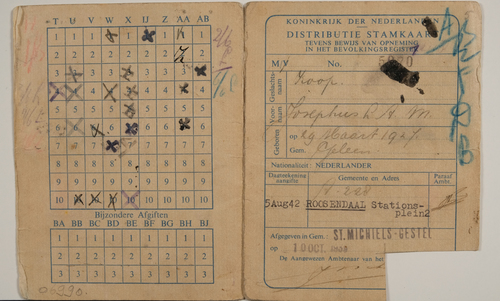Distributie stamkaart