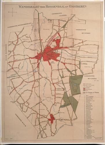 Wandelkaart voor Roosendaal en omstreken