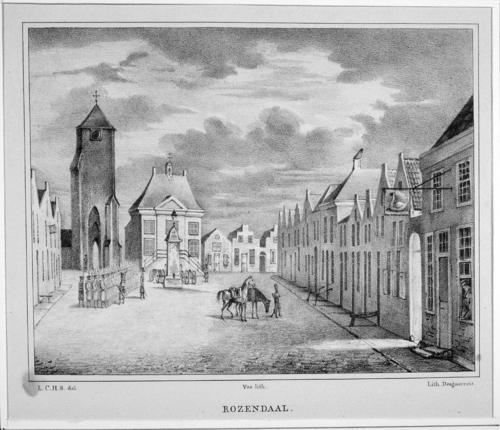 Gezicht op de Markt te Roosendaal