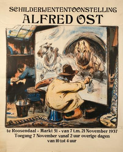 Schilderijententoonstelling Alfred Ost