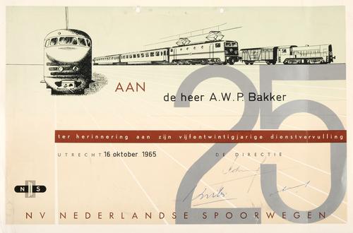 Oorkonde Nederlandse Spoorwegen