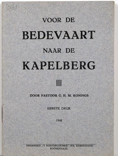 Bedevaart Kapelberg