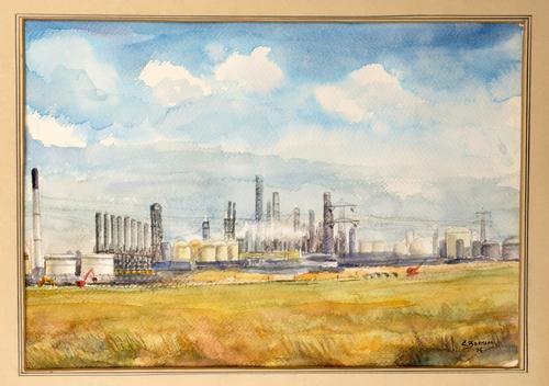 Gezicht op industrie in Moerdijk