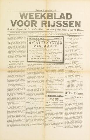 Weekblad voor Rijssen 1934-11-03