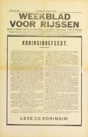 Weekblad voor Rijssen 1930-08-16