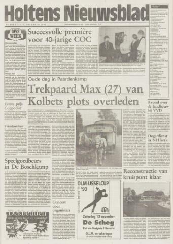 Holtens Nieuwsblad 1993-11-04