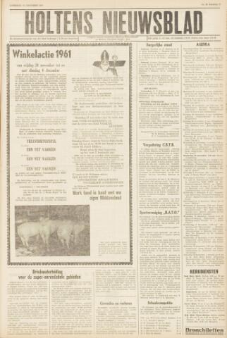 Holtens Nieuwsblad 1961-11-25