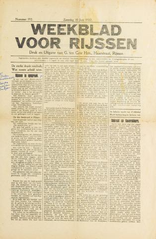 Weekblad voor Rijssen 1922-06-10
