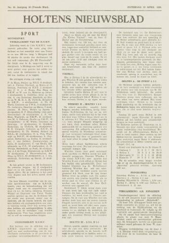 Holtens Nieuwsblad 1958-04-19