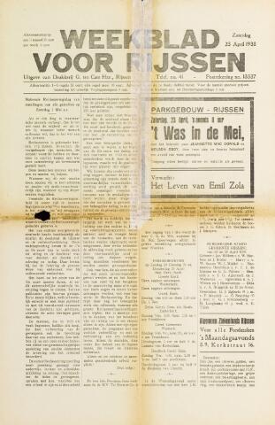 Weekblad voor Rijssen 1938-04-23