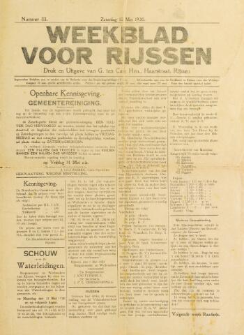Weekblad voor Rijssen 1920-05-15