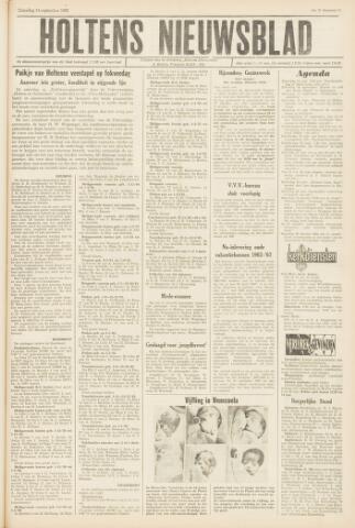Holtens Nieuwsblad 1963-09-14