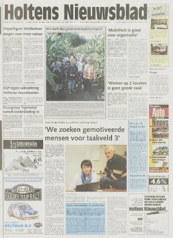 Holtens Nieuwsblad 2001-09-20